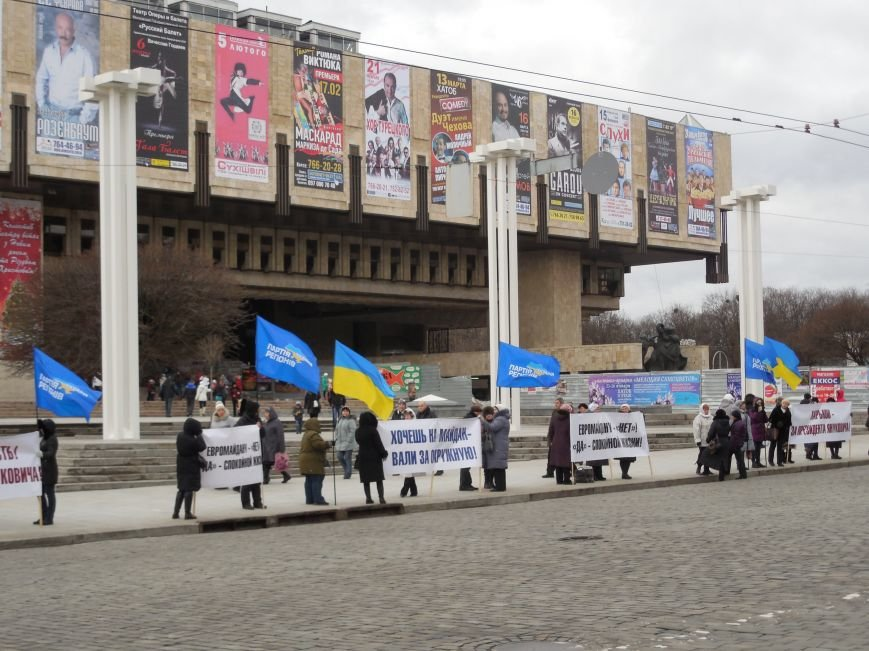 Центр Харькова заполонили «поклонники курса президента Януковича». Правда, многие не знают, зачем и почему пришли (фото), фото-2