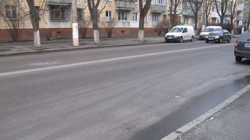 Житомирські дороги та узбіччя полонила ожеледь, фото-1