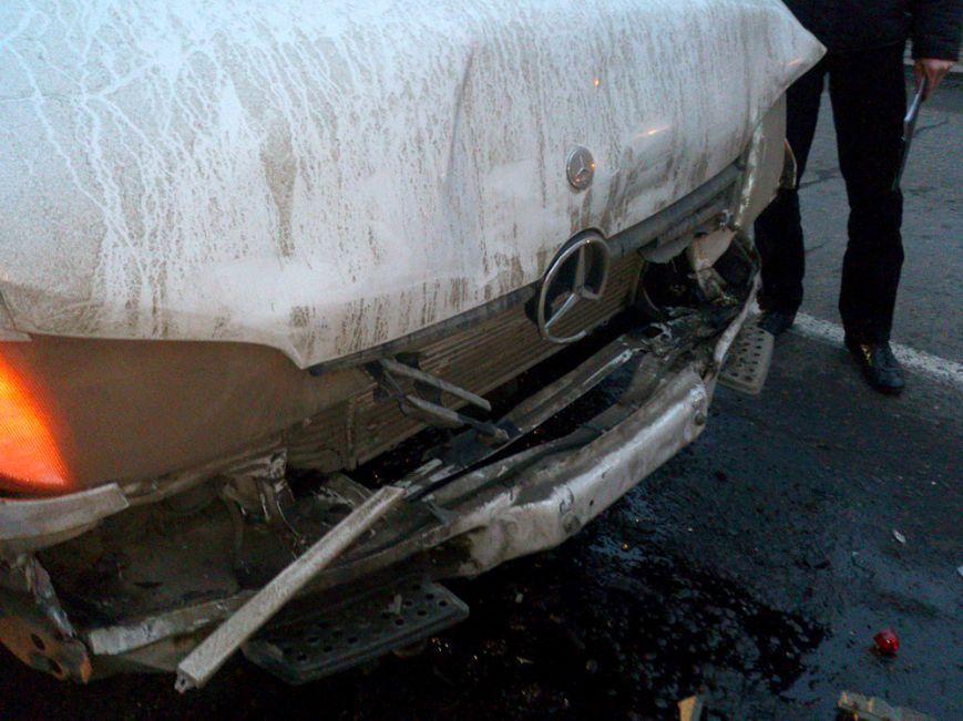 В Мариуполе на  проспекте Ильича столкнулось сразу четыре авто (ФОТО), фото-1