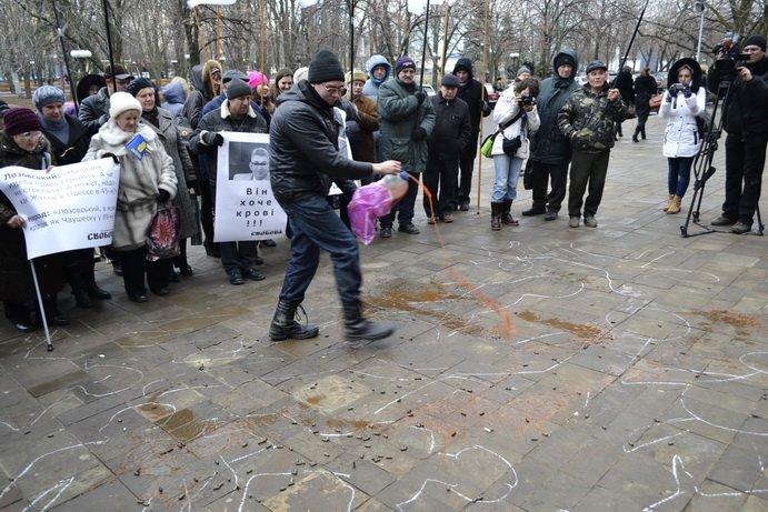 В Луганске для заместителя губернатора Эдуарда Лозовского устроили «кровавое» шоу (ФОТО), фото-2