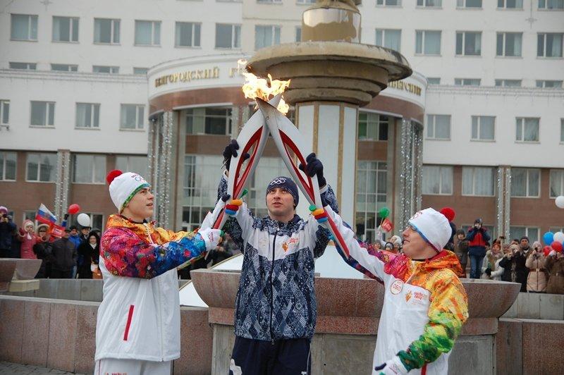 Остановленные мгновения Эстафеты Олимпийского огня в Белгороде, фото-8
