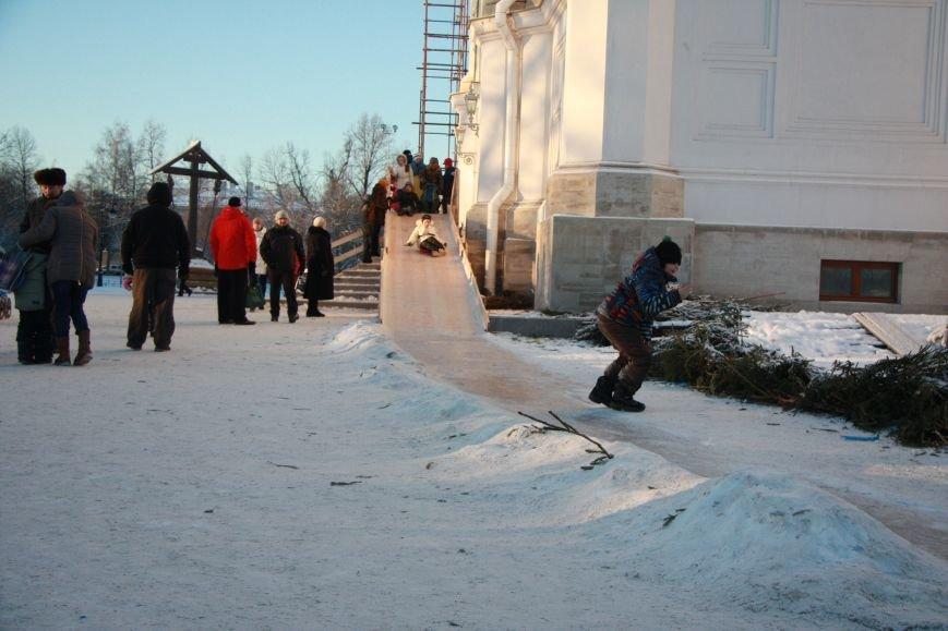 горка возле собора Екатерины