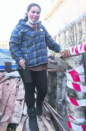 Бердичівлянка Анастасія свої іменини та Новий рік зустрічала на Майдані, фото-1