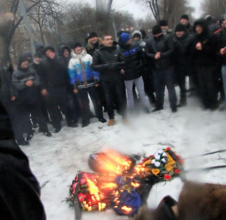 В Донецке обливали краской и забрасывали льдом участников Евромайдана и журналистов - милиция нарушений не заметила (фото), фото-8
