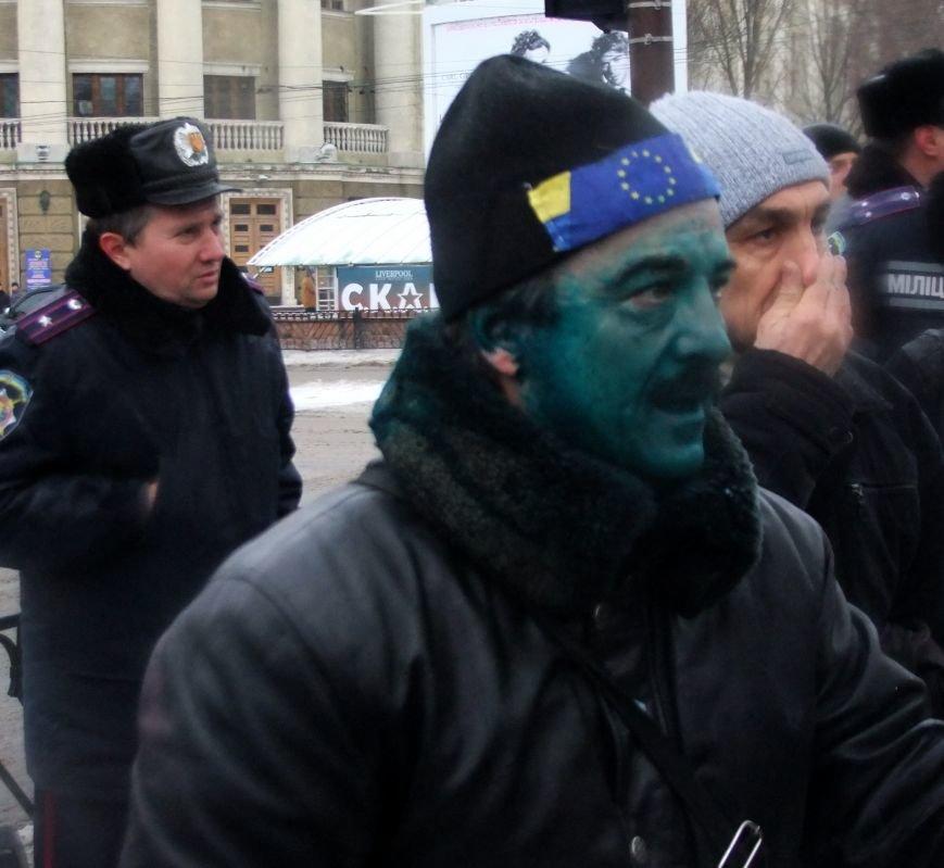 В Донецке обливали краской и забрасывали льдом участников Евромайдана и журналистов - милиция нарушений не заметила (фото), фото-2