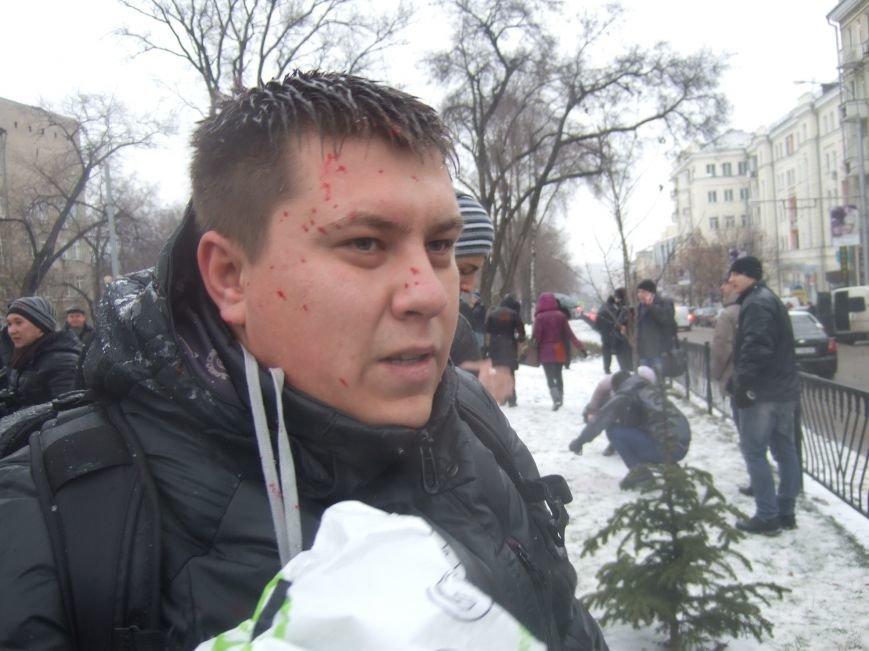 В Донецке обливали краской и забрасывали льдом участников Евромайдана и журналистов - милиция нарушений не заметила (фото), фото-5