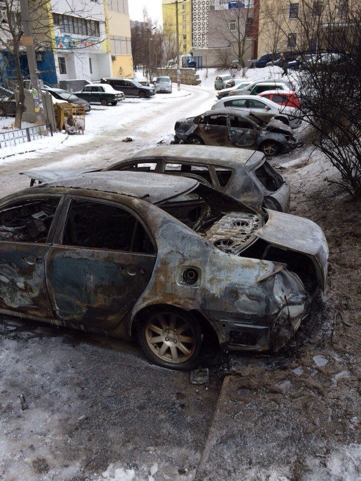 сгоревшие авто2