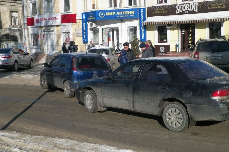В центре Николаева образовалась пробка из-за ДТП (ФОТО), фото-1