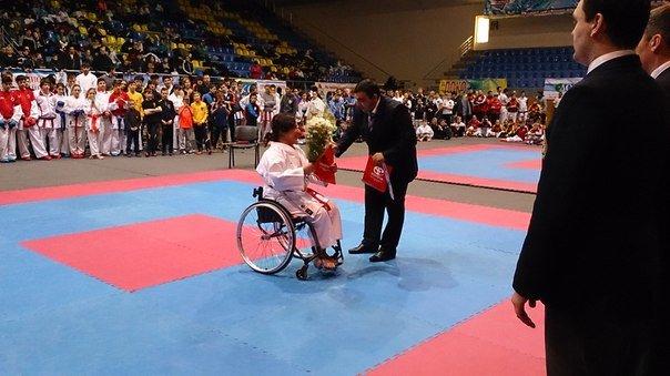 Мариупольские инвалиды-колясочники приняли участие в международном турнире по каратэ (ФОТО), фото-2