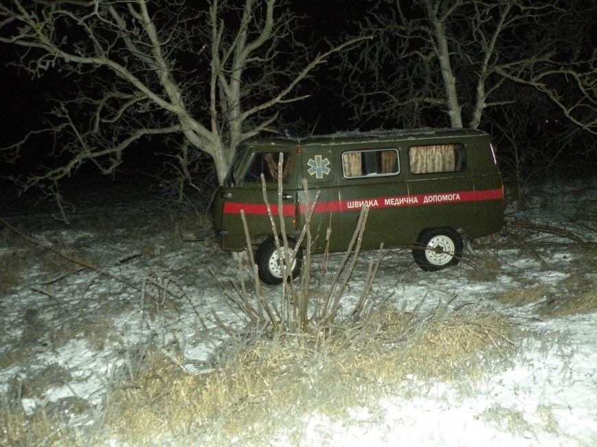 На скользкой трассе под Николаевом карета «скорой помощи» вылетела в кювет (ФОТО), фото-4