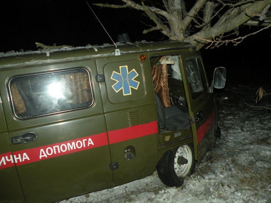 На скользкой трассе под Николаевом карета «скорой помощи» вылетела в кювет (ФОТО), фото-2