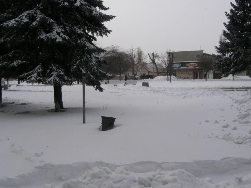 Зима по-Красноармейски. По прогнозам синоптиков снег сегодня будет идти весь день, фото-21
