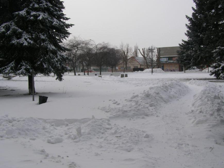 Зима по-Красноармейски. По прогнозам синоптиков снег сегодня будет идти весь день, фото-20