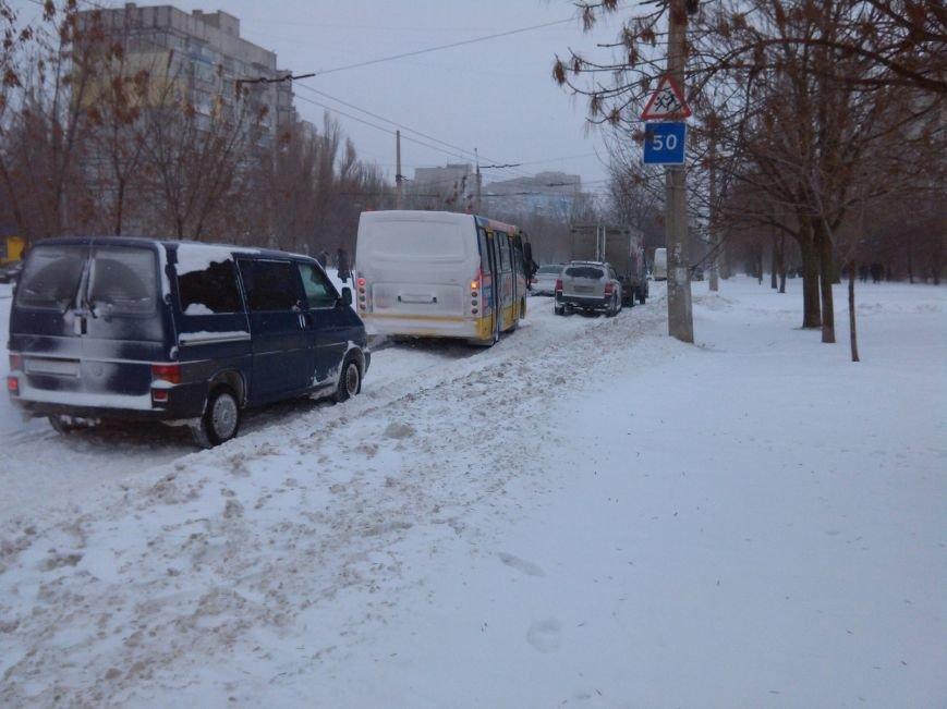 В Мариуполе снег завалил спальные микрорайоны (Фотофакт), фото-4