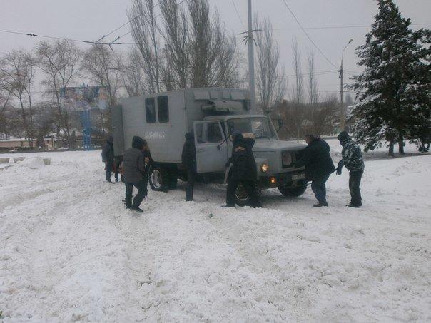 Дождались! Мариупольских делегатов антимайдана встречала коммунальная техника (Фоторепортаж), фото-6