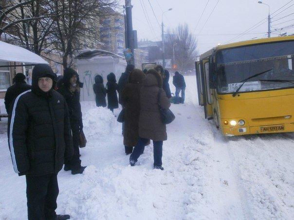 В Мариуполе коллеги отправились на работу на лыжах (Фотофакт), фото-5