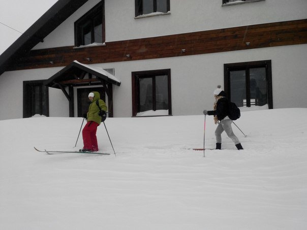 В Мариуполе коллеги отправились на работу на лыжах (Фотофакт), фото-3