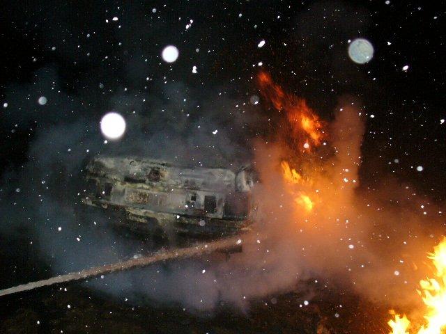 В Домодедово  сгорела машина, фото-1