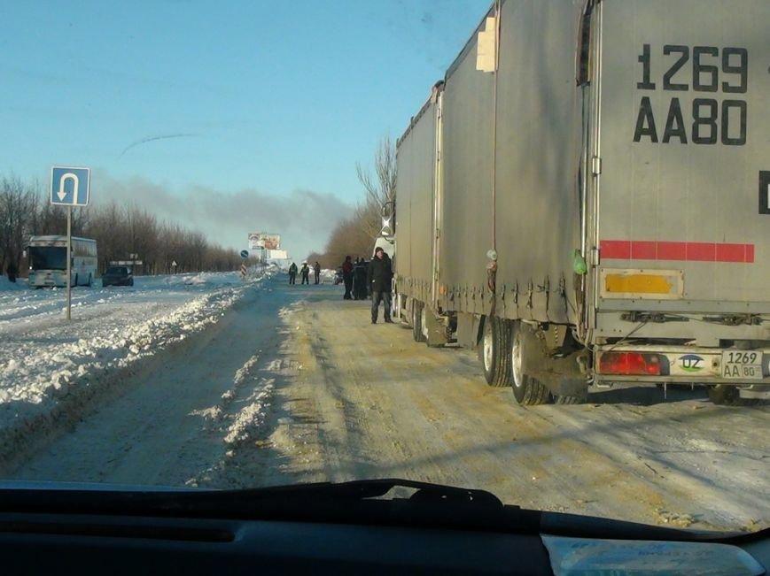 На трассе Донецк-Мариуполь расчистили одну полосу движения (ФОТОРЕПОРТАЖ+ВИДЕО), фото-45