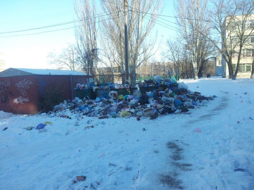 Мусорный коллапс. В Мариуполе  5 дней не вывозят отходы (ФОТО), фото-1