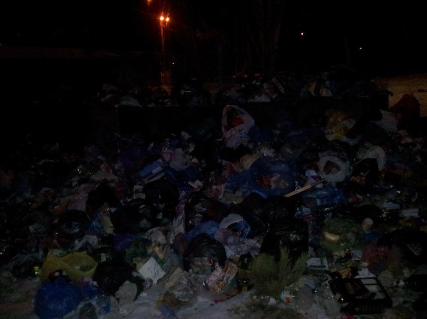 Мусорный коллапс. В Мариуполе  5 дней не вывозят отходы (ФОТО), фото-2