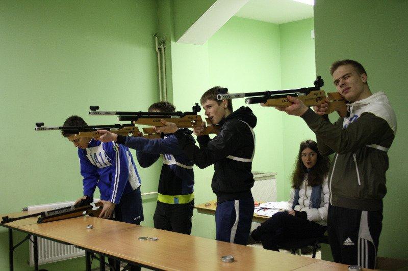 Стрельба, спартакиада, город Пушкин