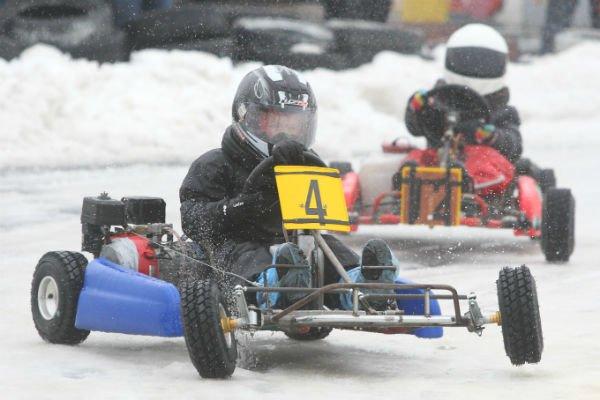 Первый гродненский опыт в проведении соревнований по зимнему картингу: фоторепортаж (фото) - фото 1
