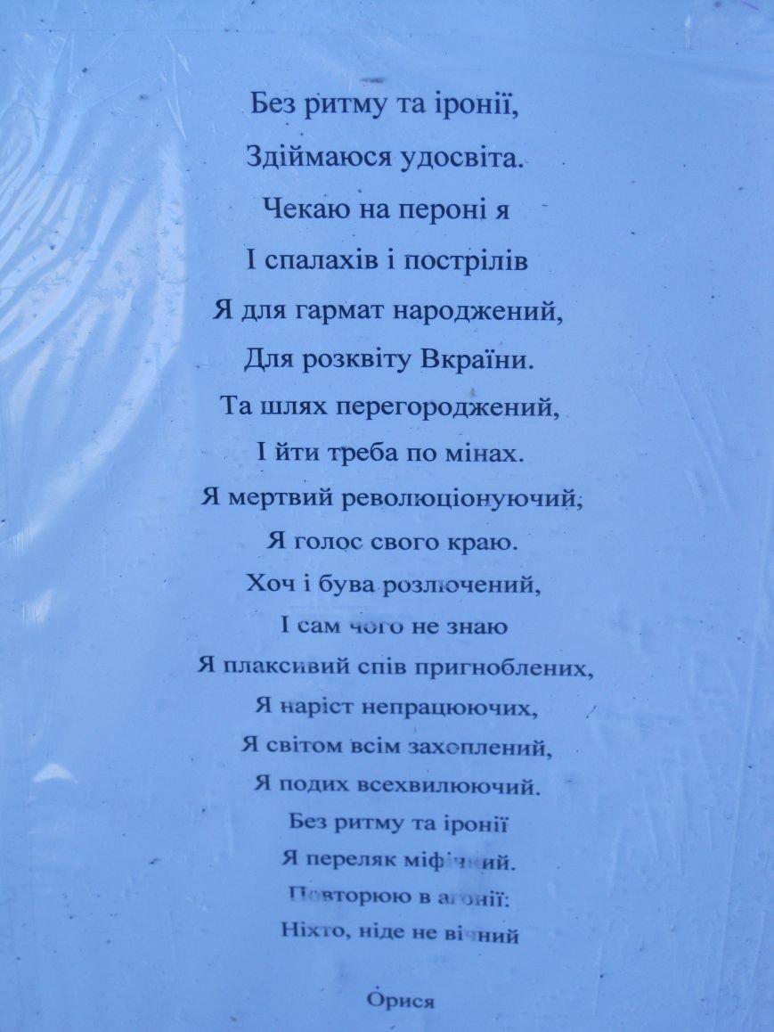 На Евробаррикаде в Чернигове звучали стихи (ФОТО), фото-2