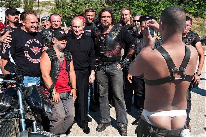 «Украинский фронт» Добкина поддержали байкеры Путина, фото-1