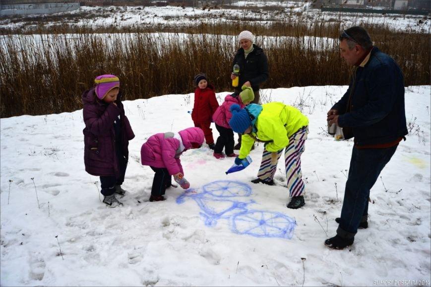 Полтавським велосипедистам сніг - не перешкода, фото-3