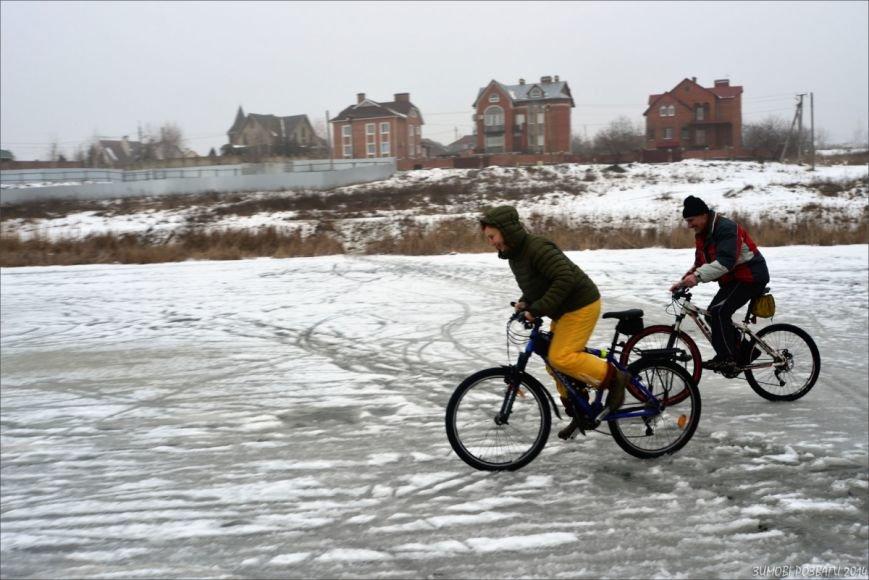 Полтавським велосипедистам сніг - не перешкода, фото-2