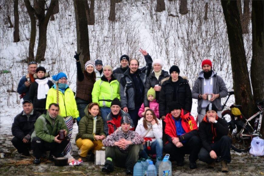Полтавським велосипедистам сніг - не перешкода, фото-4