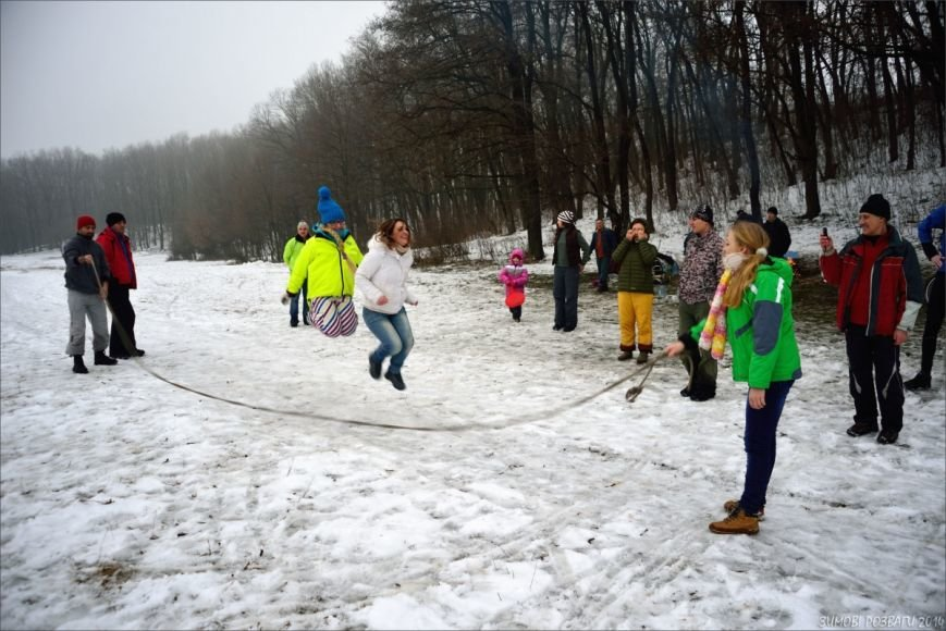 Полтавським велосипедистам сніг - не перешкода, фото-1