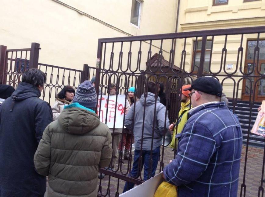 Львів'яни облили «регіональні» банки «кров'ю», щоб захистити Майю Москович  (ФОТО, ВІДЕО), фото-10