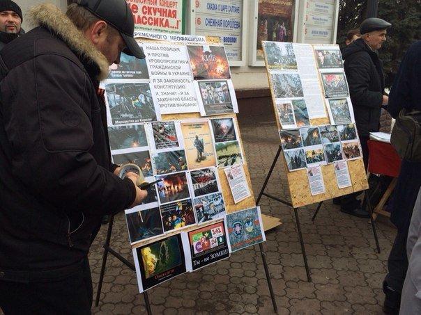 Стоп - фашизм! В Мариуполе под стенами храма Мельпомены образовался антимайдан (ФОТО) (фото) - фото 1