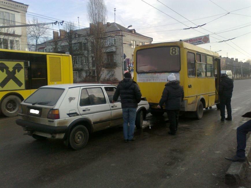 В Кировограде иномарка протаранила маршрутку (фото) (фото) - фото 1