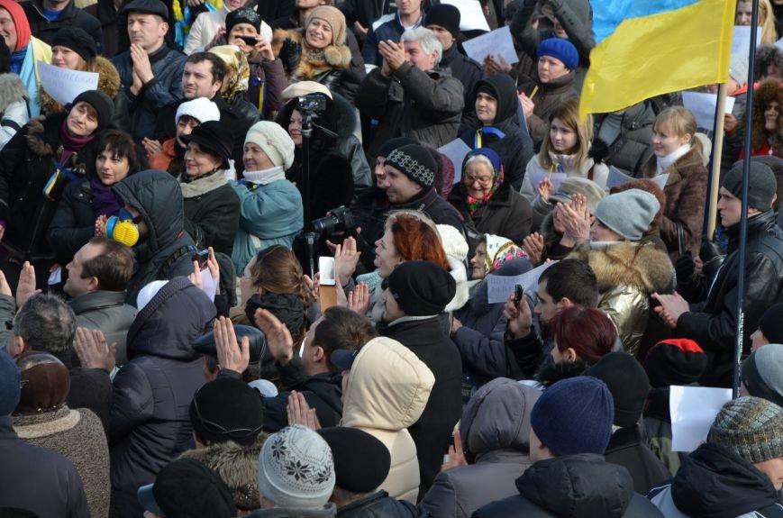 В Мариуполе на митинге памяти порвали портрет Януковича (ФОТОРЕПОРТАЖ), фото-58