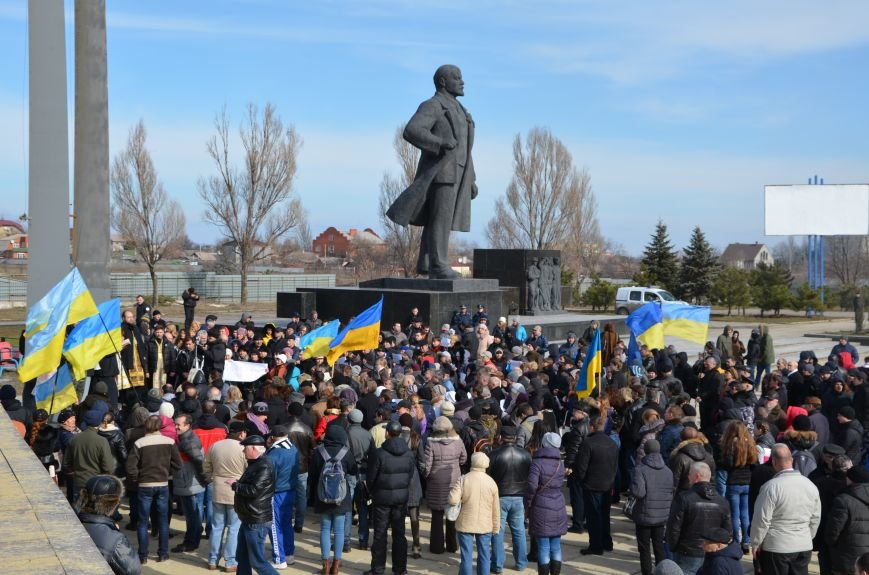 В Мариуполе на митинге памяти порвали портрет Януковича (ФОТОРЕПОРТАЖ), фото-6