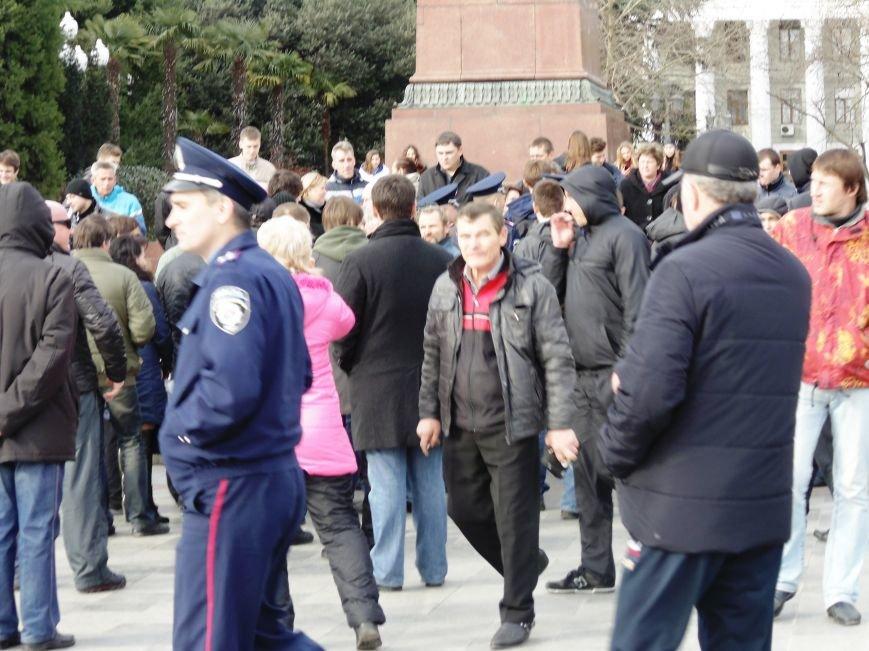 Ялтинская милиция и местные жители пресекли попытку активистов Майдана провести громкий митинг памяти погибших (ВИДЕО), фото-1