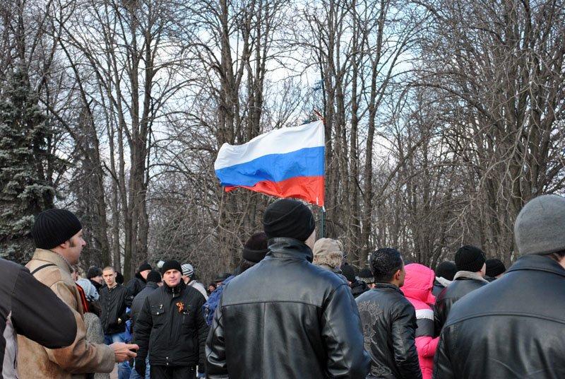 «Янукович - сука, он нас предал!» - в Луганске начался митинг «Луганской гвардии» (ФОТО), фото-3
