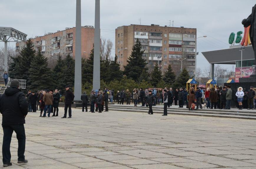 В Мариуполе Антимайдан пришел к Ленину поговорить со сторонниками Майдана (Дополнено ФОТО), фото-43