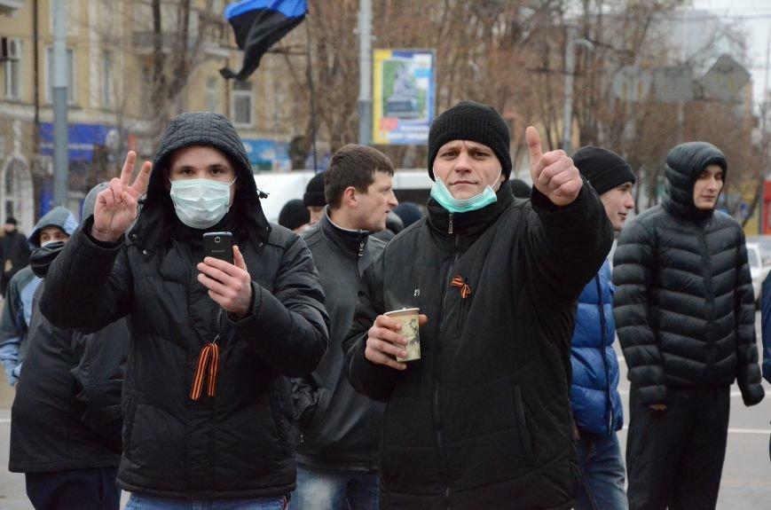 В Мариуполе Антимайдан пришел к Ленину поговорить со сторонниками Майдана (Дополнено ФОТО), фото-20