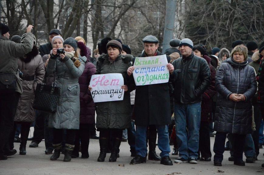 В Мариуполе Антимайдан пришел к Ленину поговорить со сторонниками Майдана (Дополнено ФОТО), фото-4