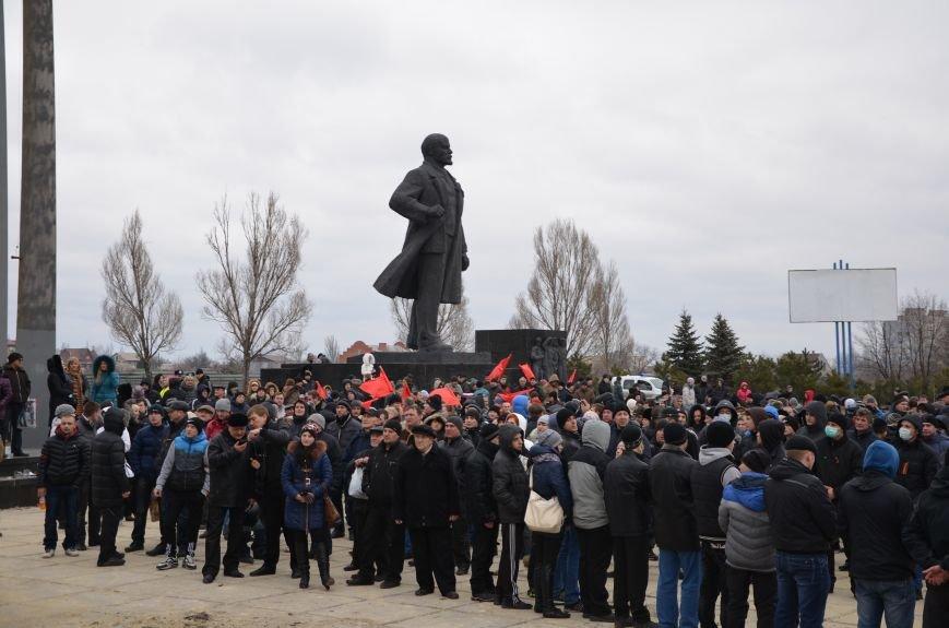 В Мариуполе Антимайдан пришел к Ленину поговорить со сторонниками Майдана (Дополнено ФОТО), фото-67
