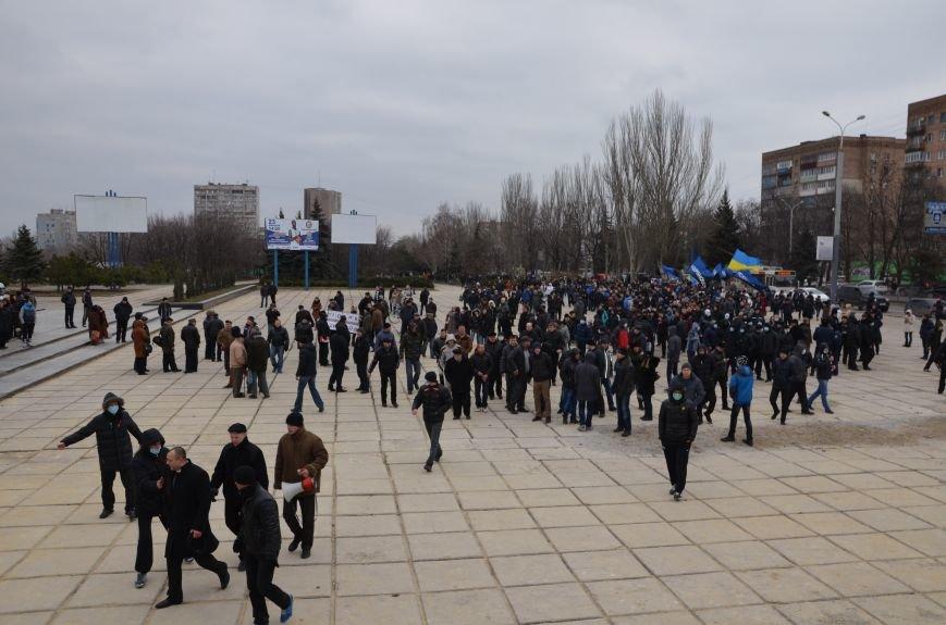 В Мариуполе Антимайдан пришел к Ленину поговорить со сторонниками Майдана (Дополнено ФОТО), фото-49