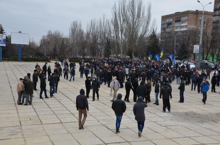 В Мариуполе Антимайдан пришел к Ленину поговорить со сторонниками Майдана (Дополнено ФОТО), фото-46