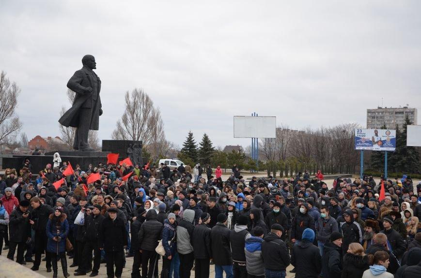 В Мариуполе Антимайдан пришел к Ленину поговорить со сторонниками Майдана (Дополнено ФОТО), фото-66