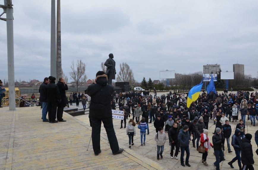 В Мариуполе Антимайдан пришел к Ленину поговорить со сторонниками Майдана (Дополнено ФОТО), фото-53