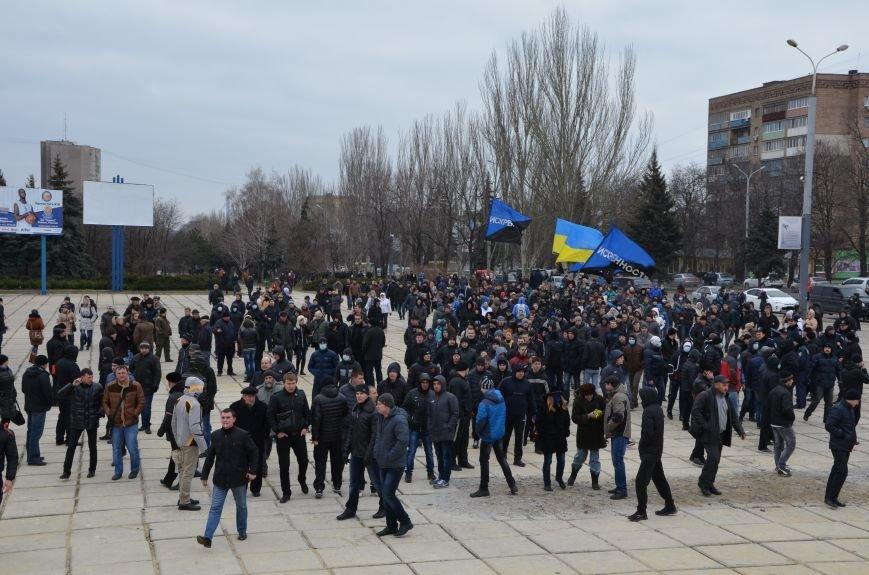 В Мариуполе Антимайдан пришел к Ленину поговорить со сторонниками Майдана (Дополнено ФОТО), фото-51