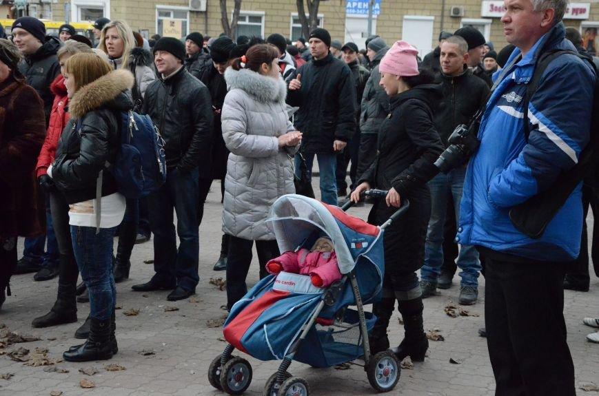 В Мариуполе Антимайдан пришел к Ленину поговорить со сторонниками Майдана (Дополнено ФОТО), фото-3